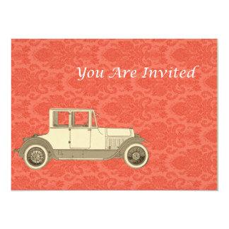 1800's Vintage Car Illustration Personalized Invite
