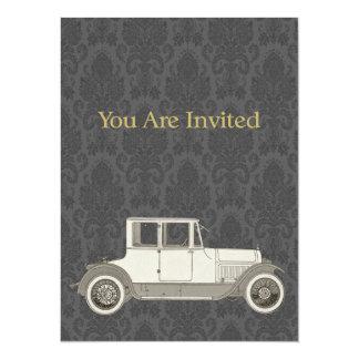 1800's Vintage Car Illustration Invitations