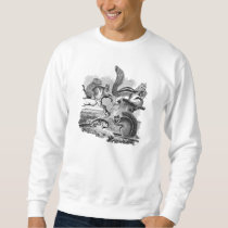 1800s Vintage Squirrels Illustration - Squirrel Sweatshirt