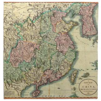 1801 John Cary Map of China and Korea Napkin