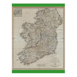 1804 Map of Ireland Postcard