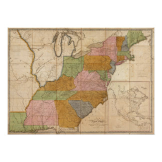1804 Map of the United States Poster