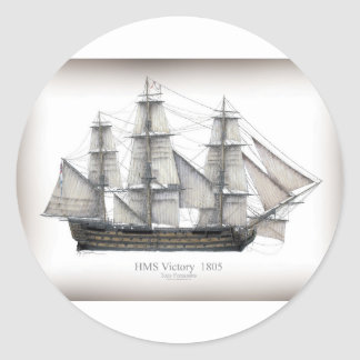 1805 Victory ship Classic Round Sticker