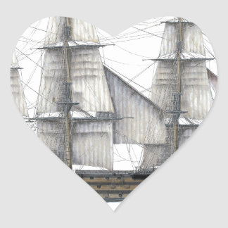 1805 Victory ship Heart Sticker