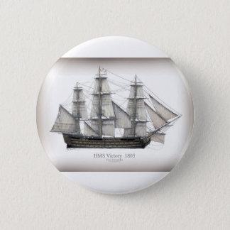 1805 Victory ship Pinback Button