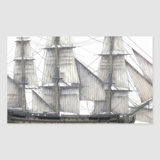 1805 Victory ship Rectangular Sticker