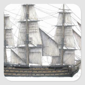 1805 Victory ship Square Sticker