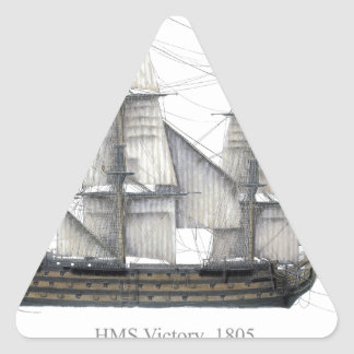 1805 Victory ship Triangle Sticker
