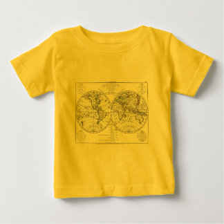 1806 Atlas Map: La Mappemonde by Eustache Hérisson Baby T-Shirt