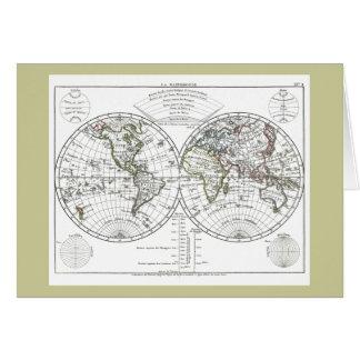 1806 Atlas Map: La Mappemonde by Eustache Hérisson Card