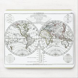 1806 Atlas Map: La Mappemonde by Eustache Hérisson Mouse Pad