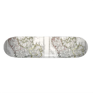 1806 Map - L Irlande Skate Board Deck