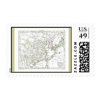 1806 Map - La Chine Stamps