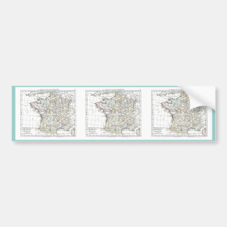 1806 Map - La France en 32 Gouvernements Car Bumper Sticker