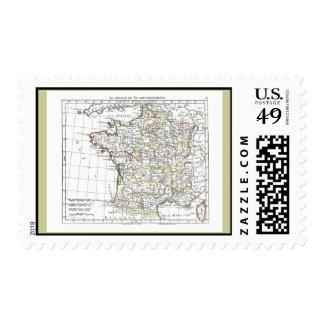 1806 Map - La France en 32 Gouvernements Postage