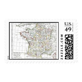 1806 Map - La France en 32 Gouvernements Stamp