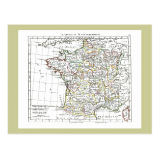 1806 Map - La France en 32 Gouvernements Post Card
