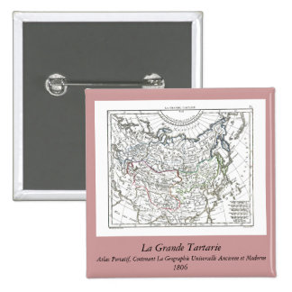 1806 Map - La Grande Tartarie Button