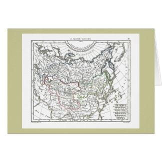 1806 Map - La Grande Tartarie Greeting Card