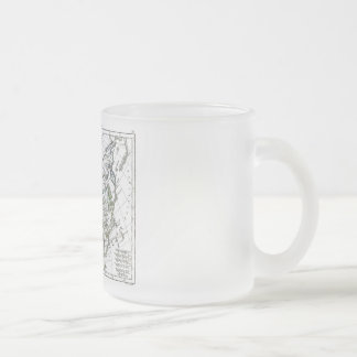 1806 Map - La Grande Tartarie Frosted Glass Coffee Mug