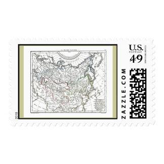 1806 Map - La Grande Tartarie Postage Stamps