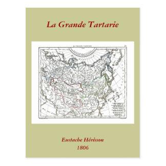 1806 Map - La Grande Tartarie Postcard