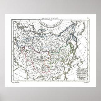 1806 Map - La Grande Tartarie Poster
