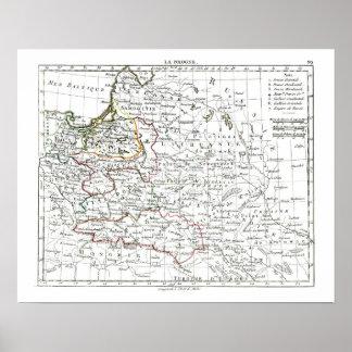 1806 Map - La Pologne Poster