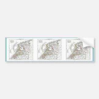 1806 Map - La Republique Batave Bumper Sticker