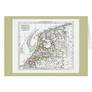 1806 Map - La Republique Batave Card