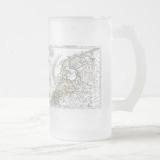 1806 Map - La Republique Batave Frosted Glass Beer Mug