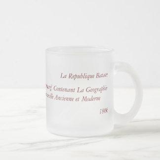 1806 Map - La Republique Batave Frosted Glass Coffee Mug
