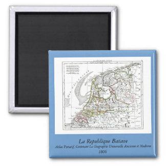 1806 Map - La Republique Batave Magnet