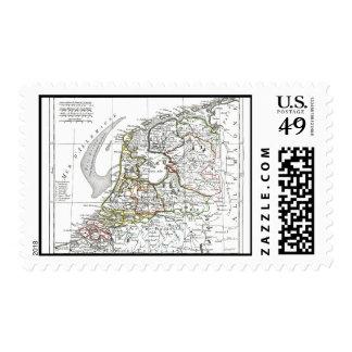 1806 Map - La Republique Batave Stamp