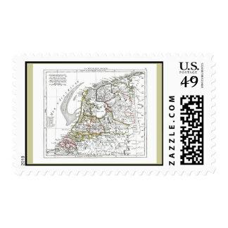 1806 Map - La Republique Batave Postage Stamps