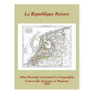 1806 Map - La Republique Batave Postcard
