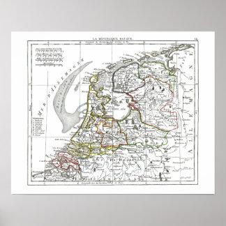 1806 Map - La Republique Batave Poster