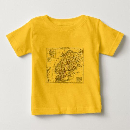 1806 Map - La Suede at le Danemarck Baby T-Shirt