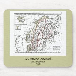 1806 Map - La Suede at le Danemarck Mouse Pad