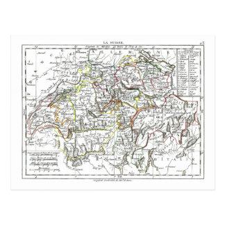 1806 Map - La Suisse Postcard