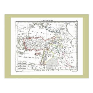 1806 Map - La Turquie d'Asie Postcard