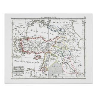 1806 Map - La Turquie d'Asie Posters