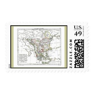 1806 Map - La Turquie d'Europe Postage Stamp