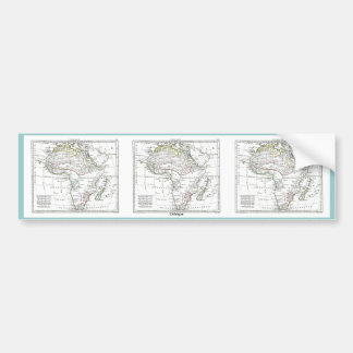 1806 Map - L'Afrique Bumper Sticker