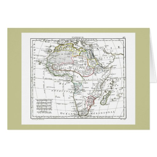 1806 Map - L'Afrique Greeting Card