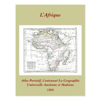 1806 Map - L'Afrique Postcard