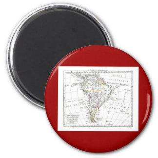 1806 Map - L'Amérique Méridionale 2 Inch Round Magnet