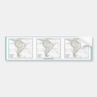 1806 Map - L'Amérique Méridionale Car Bumper Sticker