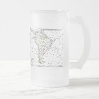 1806 Map - L'Amérique Méridionale Frosted Glass Beer Mug