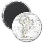 1806 Map - L'Amérique Méridionale Refrigerator Magnet